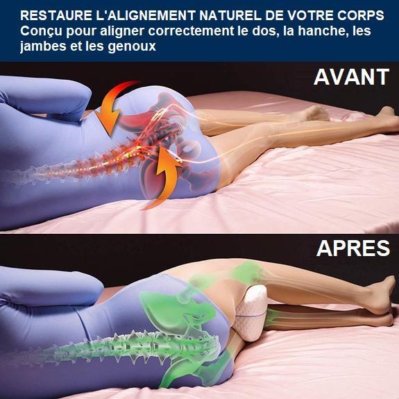 O6 Coussin Orthopédique Pour Jambes Avec Mousse À Mémoire De Forme