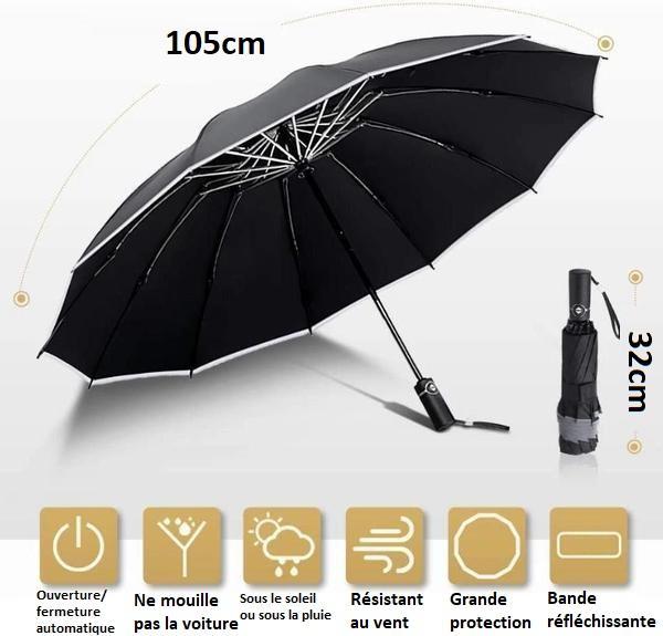 P6 e469e25b 454b 4e1c ac9a d3c7ed77faf0 Parapluie Inversé Avec Bande Réfléchissante - Brelaplus™