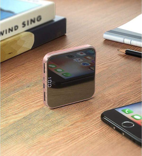 PB1 Mini Power Bank 8000Mah Conception Légère Pour Iphone, Samsung Galaxy Et Plus