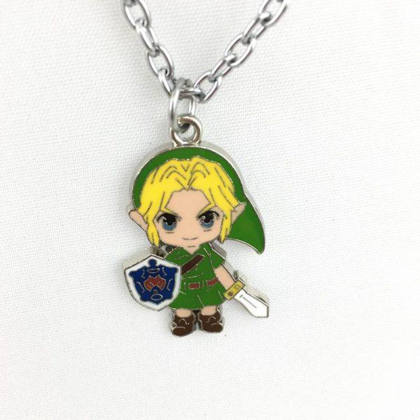 PCMOS 2017 Anime The Legend of Zelda Lien Apporter Eacute Collier Couleur Argentée À Pendentif Zelda - Livraison Gratuite !