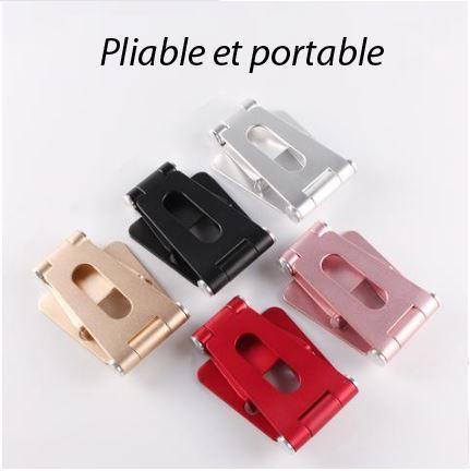 PS1 Support Pliable Et Rotatif Pour Téléphone Ou Tablette