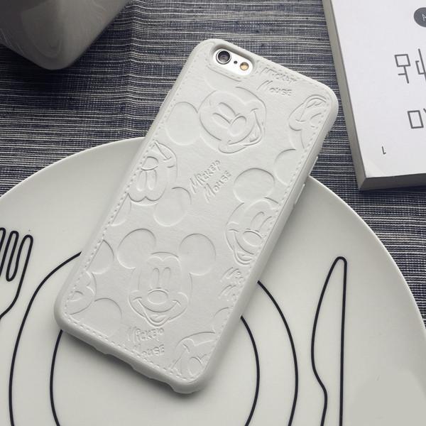 PU En Cuir de Bande Dessinee Mickey Cas Pour iPhone 7 6 6 S Plus doux f6e8ea4f e5c1 485e 9fdd 90fe82c39a6e Coque En Cuir Mickey Mouse (2 Couleurs) Pour Iphone - Livraison Gratuite !