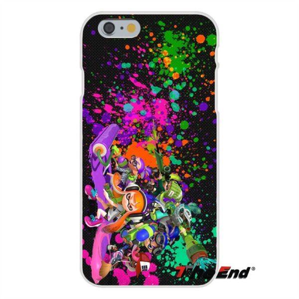 Pour iPhone 4 4S 5 5C SE 6 6 S 7 Plus Silice doux Gel TPU 1 8507c259 2592 46aa bdc7 a93e973d553e Coque Splatoon Inkling Squid Pour Iphone (4 Illustrations) - Livraison Gratuite !