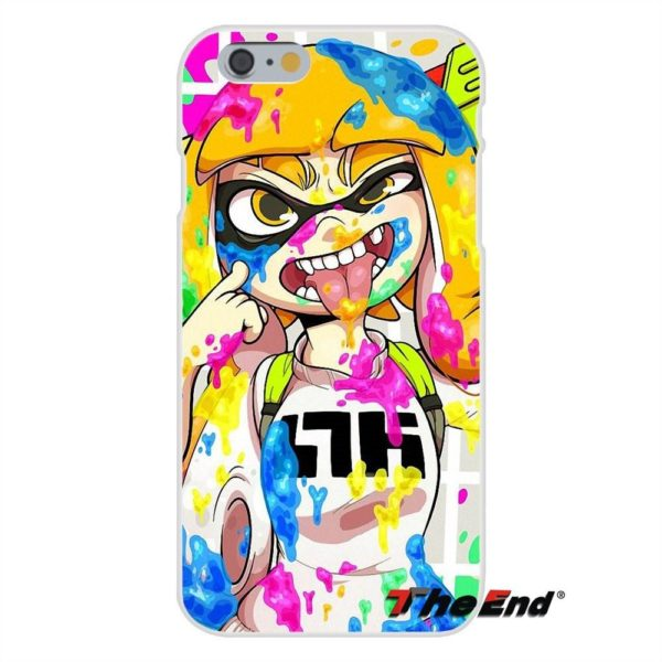 Pour iPhone 4 4S 5 5C SE 6 6 S 7 Plus Silice doux Gel TPU 946bdfea 679e 49e7 9feb 1a9888246b1f Coque Splatoon Inkling Squid Pour Iphone (4 Illustrations) - Livraison Gratuite !