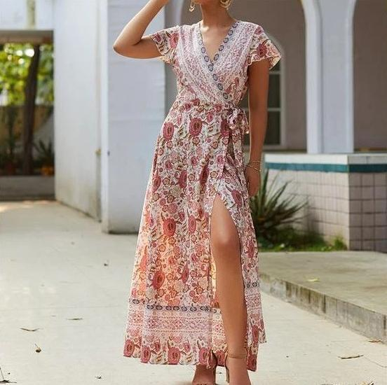 Robe Longue Indie Minute Mode Rose S