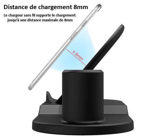 Sans titre 4 Chargeur Sans Fil 3 En 1 De Téléphones, Montres Et Airpods