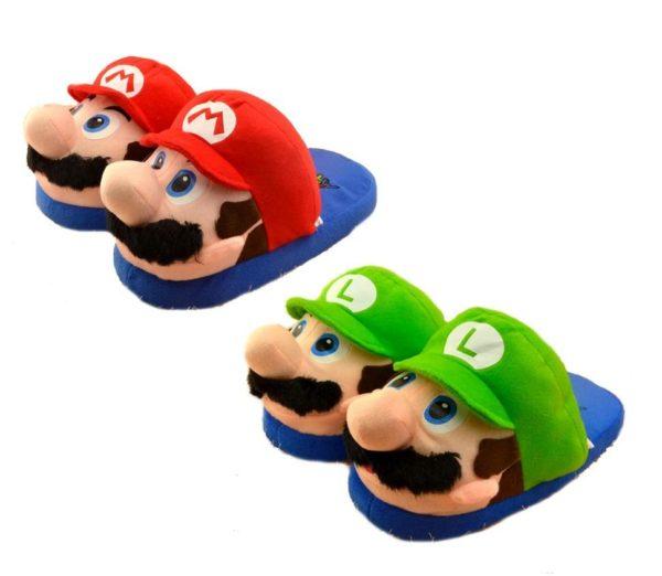 Sans titre 1 73225836 04a4 4393 8b73 39ef58eb91ba Pantoufles Adulte Mario/Luigi Super Mario - Livraison Gratuite !