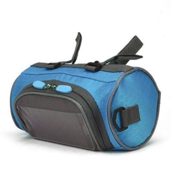 Sacoche de Guidon Multifonctionnel à Ecran Tactile - BicycleBag™ Raton Malin Bleu Clair