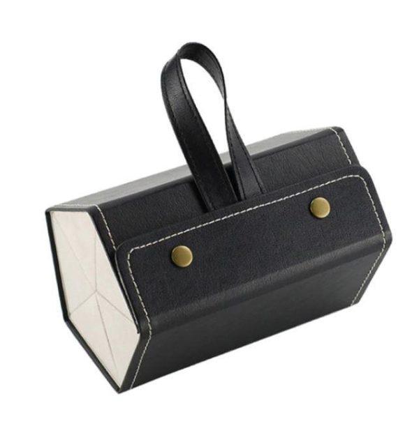 Boîte De Rangement Pour Lunettes Flash Ventes Noir - 5 poches