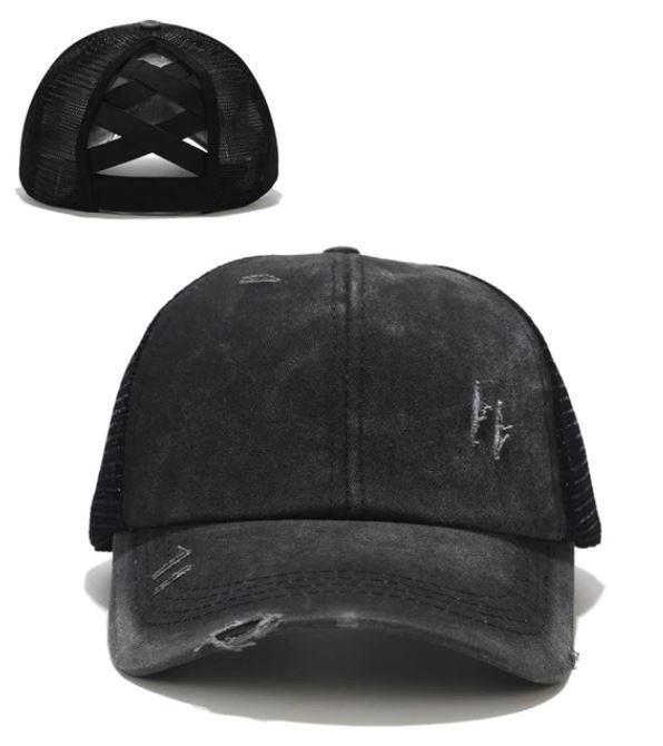 Casquette Spéciale Queue de Cheval Minute Mode Noir