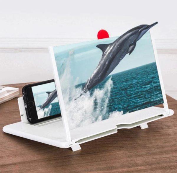 Amplificateur d'Ecran Smartphone Pliable Flash Ventes Blanc