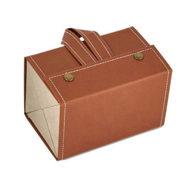 Boîte De Rangement Pour Lunettes Flash Ventes Marron - 4 poches