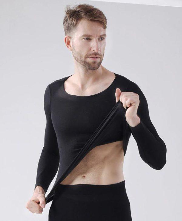 Sous-vêtements Thermiques Élastiques Sans Couture Flash Ventes Noir - Homme