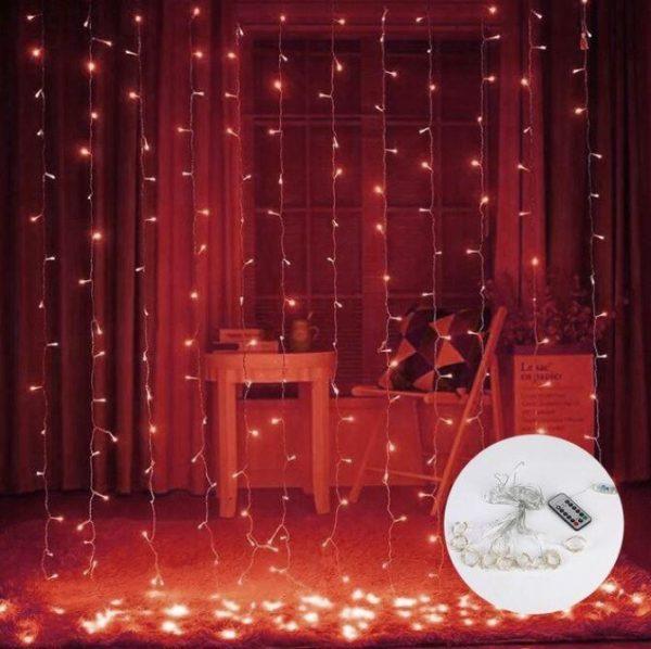 Guirlandes lumineuses Pour votre Intérieur Flash Ventes Rouge 3mx1m