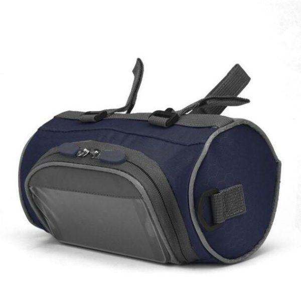 Sacoche de Guidon Multifonctionnel à Ecran Tactile - BicycleBag™ Raton Malin Bleu Foncé