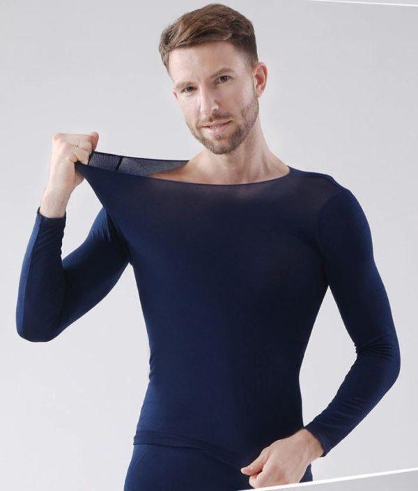 Sous-vêtements Thermiques Élastiques Sans Couture Flash Ventes Bleu - Homme