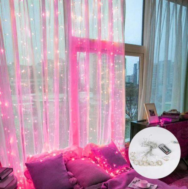 Guirlandes lumineuses Pour votre Intérieur Flash Ventes Rose 3mx1m