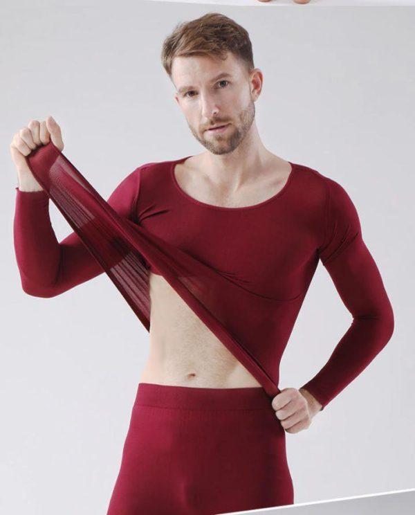Sous-vêtements Thermiques Élastiques Sans Couture Flash Ventes Bordeaux - Homme