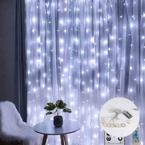 Guirlandes lumineuses Pour votre Intérieur Flash Ventes Blanc 3mx3m