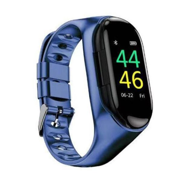 Montre Connectée Intelligente Avec Écouteurs Bluetooth Flash Ventes Bleu