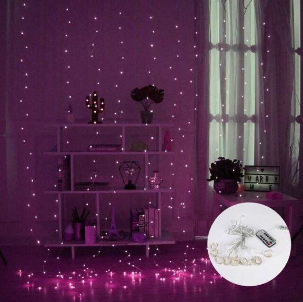 Guirlandes lumineuses Pour votre Intérieur Flash Ventes Violet 3mx2m