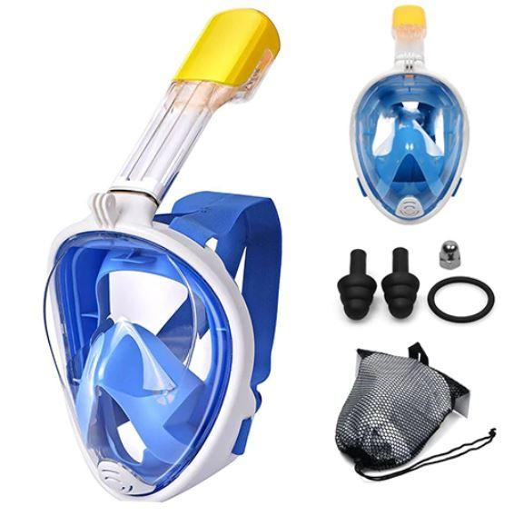 Masque De Plongée Intégral - OceanMask™ Raton Malin Bleu S/M