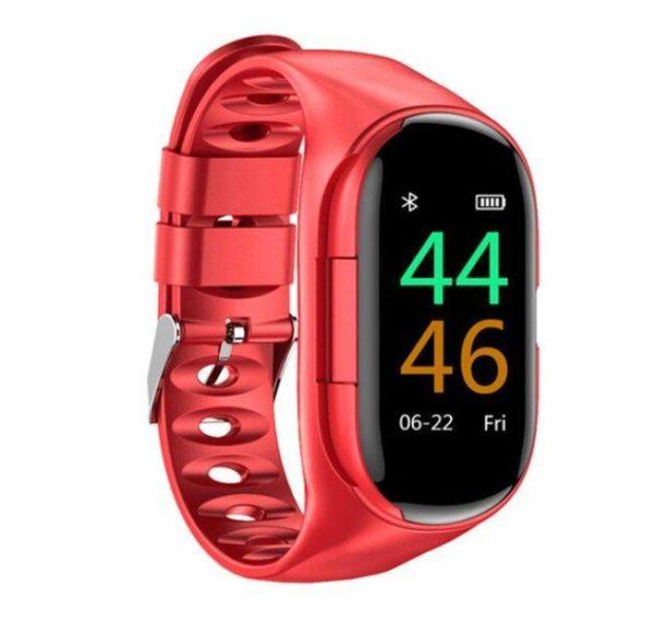 Montre Connectée Intelligente Avec Écouteurs Bluetooth Flash Ventes Rouge