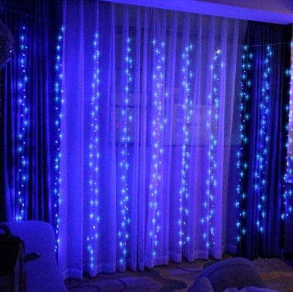 Guirlandes lumineuses Pour votre Intérieur Flash Ventes Bleu 3mx2m