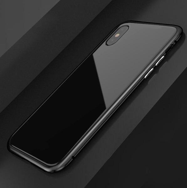 Coque magnétique de luxe en métal pour iPhone raton-malin Noir Transparent iPhone 6/6S