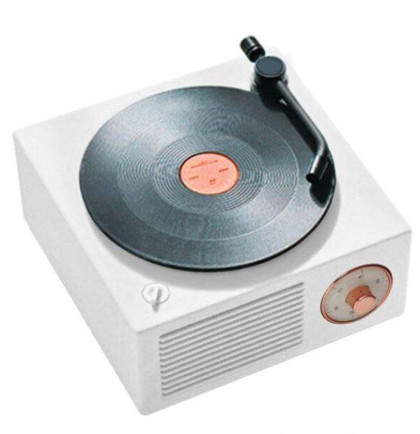 Enceinte Bluetooth Tourne-disque Vintage Flash Ventes Blanc