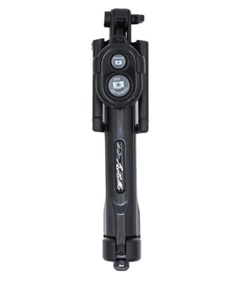 Perche à Selfie 4-en-1 avec Télécommande Bluetooth Raton Malin Noir