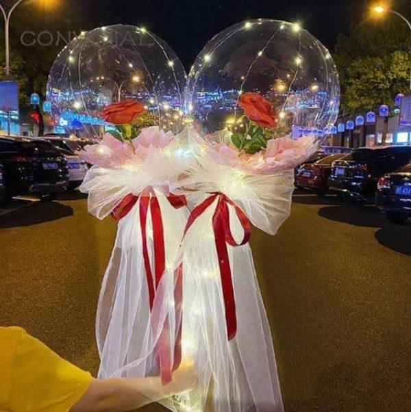 Ballons LED Lumineux Rose Éternelle Flash Ventes Modèle 4
