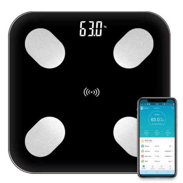 Balance Connectée Numérique - WeightFit™ Flash Ventes Noir