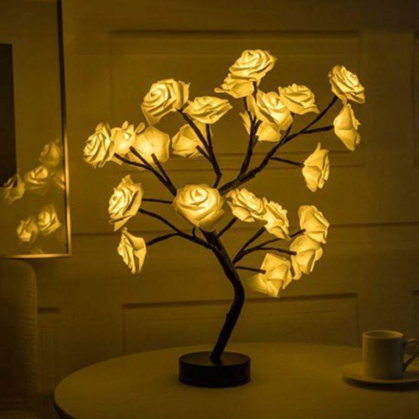 Lampe Fleurs De Rose Flash Ventes Jaune