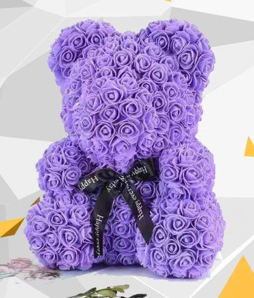 Ours en Peluche Roses top10 Raton Malin Violet