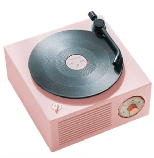 Enceinte Bluetooth Tourne-disque Vintage Flash Ventes Rose