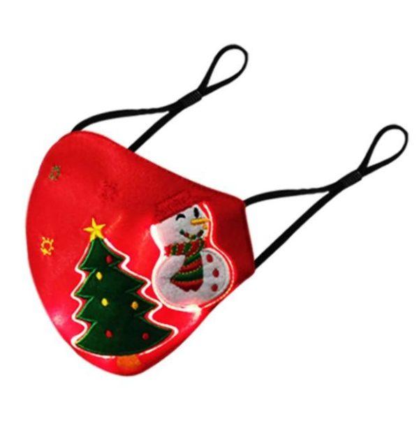 Masque De Noël Lumineux Flash Ventes Rouge