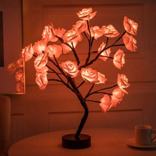 Lampe Fleurs De Rose Flash Ventes Rouge