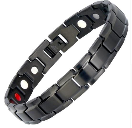 Bracelet Energique Thérapeutique raton-malin Noir et Or