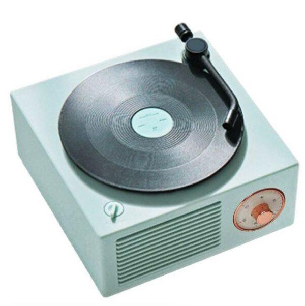 Enceinte Bluetooth Tourne-disque Vintage Flash Ventes Vert