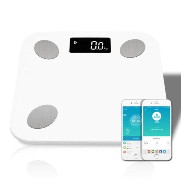 Balance Connectée Numérique - WeightFit™ Flash Ventes Blanc