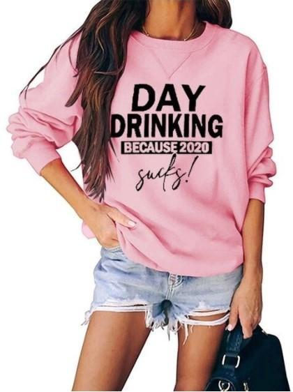 Sweat-shirt Casual - Nouvelle Collection Minute Mode Rose M