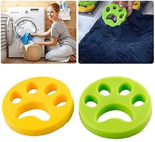 Anti poil machine à laver - Patte Anti-peluche Raton Malin Jaune