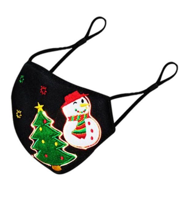 Masque De Noël Lumineux Flash Ventes Noir