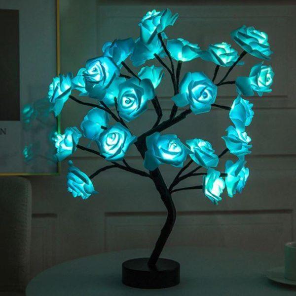 Lampe Fleurs De Rose Flash Ventes Bleu