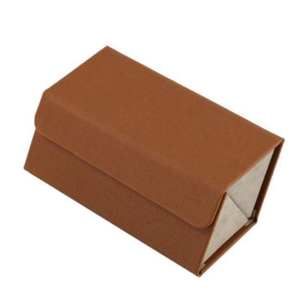 Boîte De Rangement Pour Lunettes Flash Ventes Marron - 2 poches