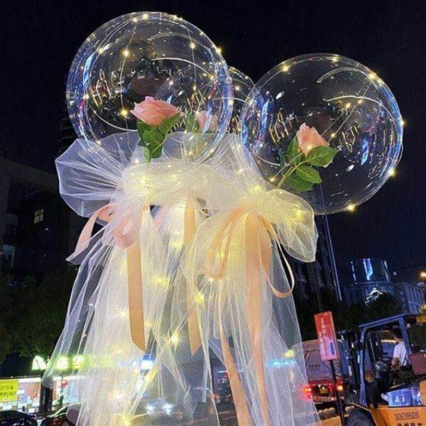 Ballons LED Lumineux Rose Éternelle Flash Ventes Modèle 7