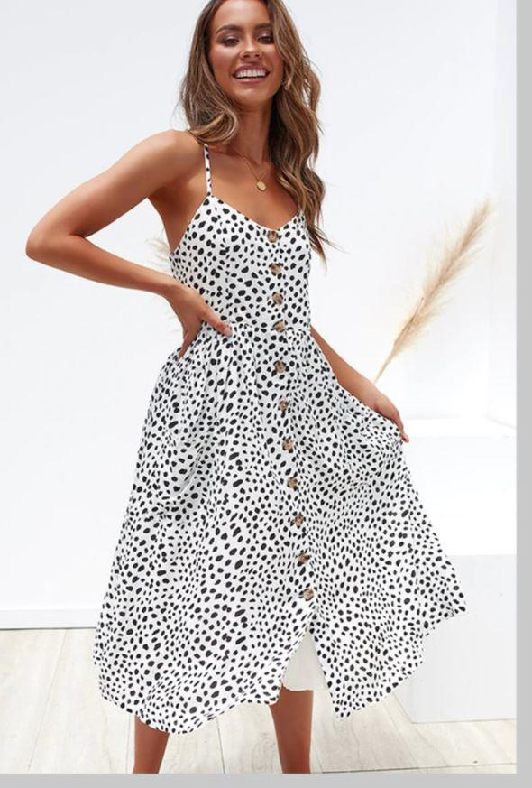 Robe Midi Boutonnée Site Vêtements Léopard XL