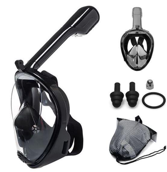Masque De Plongée Intégral - OceanMask™ Raton Malin Noir S/M
