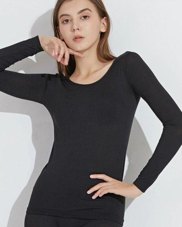 Sous-vêtements Thermiques Élastiques Sans Couture Flash Ventes Noir - Femme